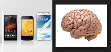 smartphones vs cerebros
