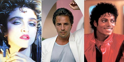 don johnson - madonna - michael jackson en los 80