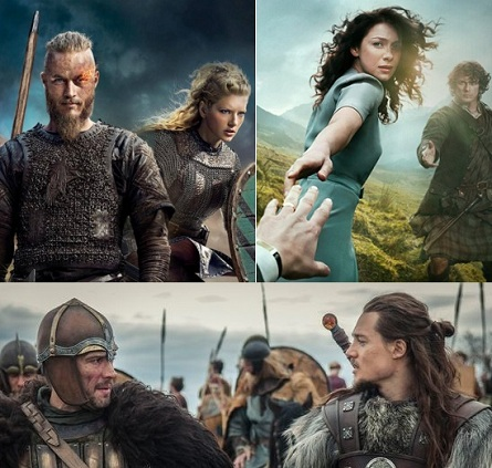 VIKINGS - OUTLANDER Y THE LAST KINGDOM